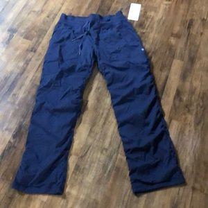 Lululemon lined dance studio pant navy 10